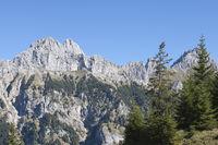 Panoramic view Tannheimer mountains