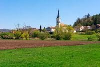 Village with a church  in Bavaria