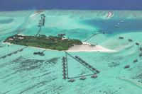Malediven-Luftaufnahme