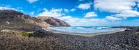 Playa De Orzola beach, Lanzarote, Canary Islands, Spain