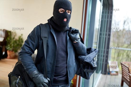 Einbrecher flüchtet aus Haus mit Beute