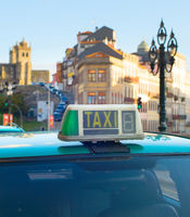 Taxi cab car Porto, Portugal
