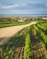 Old town on lake neusiedlersee in Burgenland Austria
