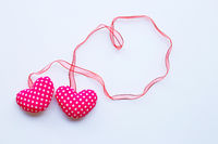 Valentine's hearts on white