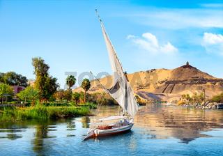 Sailboats on Nile