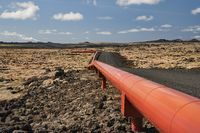 Pipeline in Iceland for geothermal power