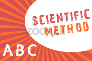 Text sign showing Scientific Method. Conceptual photo Principles Procedures for the logical hunt of knowledge