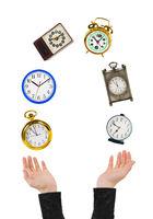 Juggling hands and clocks