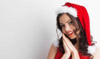 Pin-up Santa girl