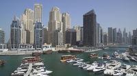 Panorama of the channel of the prestigious area of Dubai Marina