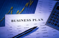 Business plan with tables and diagram