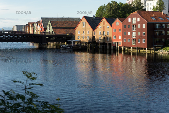 Store Houses at Nidelva River in Trondheim