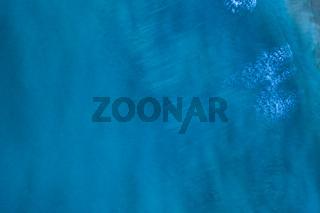 Blue surface of ocean water
