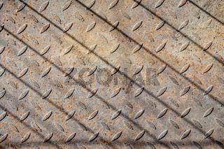 Rusty metal floor texture pattern