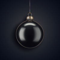 3D Rendering Christmas ball on a dark background