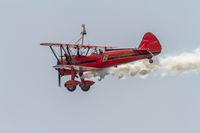 Wingwalker Danielle on the Aircraft Boeing Stearman