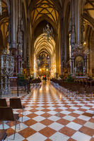 Saint Stephan cathedral interior in Vienna Austria