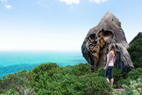 Visitor in Royal National Park taking in the sights