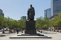 bronze statue of johann wolfgang von goethe in frankfurt am main germany
