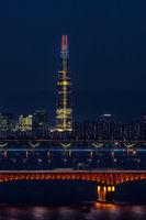 Lotte tower and seongsu bridge
