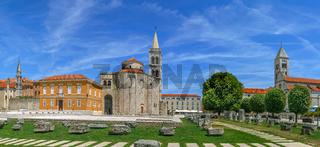 Panoramic view of Forum, Zadar, Croatia