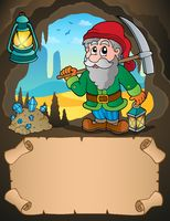 Small parchment and dwarf miner 1
