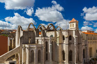 Ruins of the destroyed Carmo Church - Lisbon Portugal