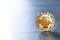 Golden coin bitcoin.