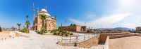 Cairo Citadel panorama, beautiful day view, Egypt