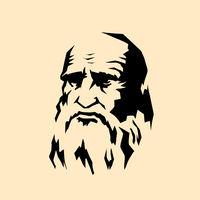Leonardo da Vinci stylized portrait. The artist sculptor scientist engineer of the Renaissance