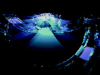 Abstract technology background - futuristic tunnel with light effects