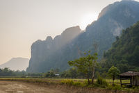 Farmland outside Vang Vieng, Laos