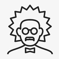 Expert or scientist icon. Lineal geometric style.