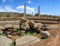 Ancient obelisks in city Aksum, Ethiopia
