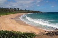 Panorama of Donkey Beach in Kauai