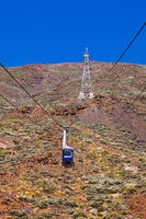 Cableway car in volcano Teide at Tenerife island - Canary