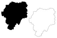 Bistrita-Nasaud County (Administrative divisions of Romania, Nord-Vest development region) map vector illustration, scribble sketch Bistrita-Nasaud map
