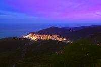 Budva Montenegro at sunset