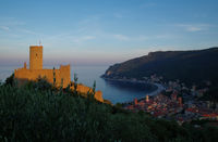 Fortress of Noli in the evening light - Liguria - Italy