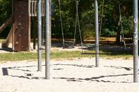 Playground with swing