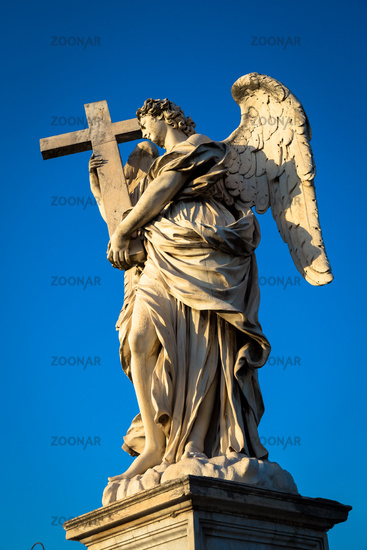 Catholic angel with cross