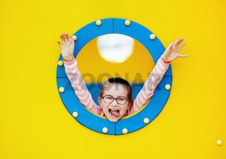 Child in porthole