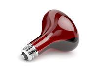 Infrared bulb on white background