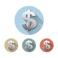 dollar symbol isolated on white