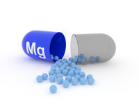 Open capsule with Mg Magnesium