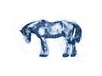 Great Horse Ballpoint Pen Doodle Illustration