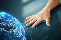 hand on touch screen scanning fingerprints