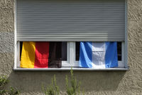 Flags, German and Argentinean flag