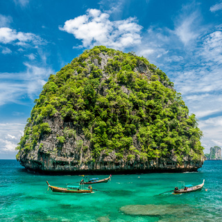 Beautiful uninhabited island in Thailand