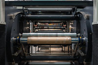 Industrial Roll to Roll Offset Machine Inner Workings Paper Output Input Printing